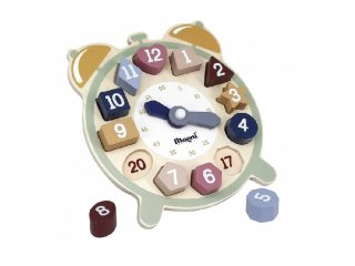 Fa óra kivehető számokkal, készségfejlesztő játék (3-7 év)