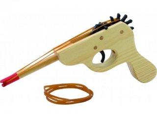 Fa pisztoly gumilövedékkel (Vilac, 10016, ügyességi játék, 3-7 év)