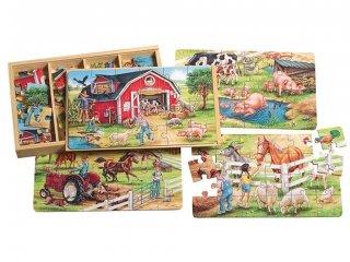 Fa puzzle: Farm (TS Shure, 0999, 4 féle kép, 24 db-os puzzle, 3-5 év)