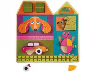 Fa Puzzle, Ház Városlakók (Oops, 3D-s bébi fajáték, 0-2 év)