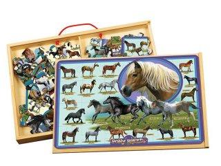 Fa puzzle: Lovak (TS Shure, 9910, 2 kirakható kép, 48 db-os puzzle, 3-12 év)