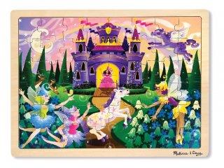 Fa puzzle, Tündérek és Lovak (Melissa Doug, 48 darabos kirakó, 3-6 év)