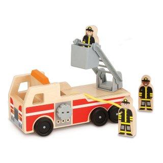 Fa tűzoltóautó (Melissa&Doug, autós fajáték, 1-7 év)