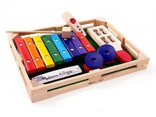 Fa ütős hangszerkészlet 2. (Melissa Doug, zenei játék, 2-5 év)