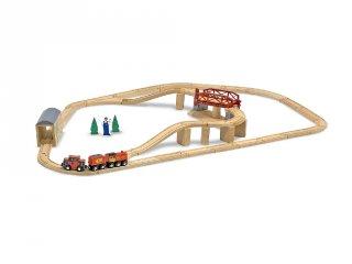 Fa vonat készlet 47 db, szerepjáték (MD, 704)