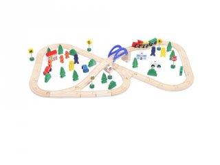 Fa vonat készlet 70 db, szerepjáték