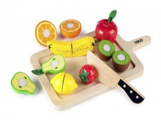 Fából készült szeletelhető gyümölcsök (Tidlo, 0216, szerepjátékhoz fajáték, 2-5 év)