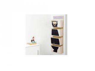 Fali tartó medve, gyerekszoba kiegészítő (3SPR)