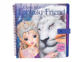 Fantasy állat kifestő (TM, satírozós kreatív játék lányoknak, 8-12 év)