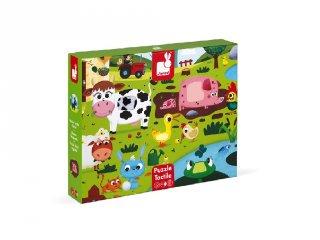 Farm állatok, Janod 20-db-os tapintós puzzle (2772, 2-4 év)