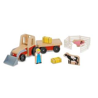 Farm traktor szett (Melissa&Doug, gyerek fajáték, 2-7 év)