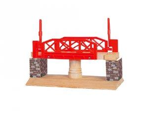 Favonat készlet kiegészítő Forgó vasúti híd, szerepjáték fából