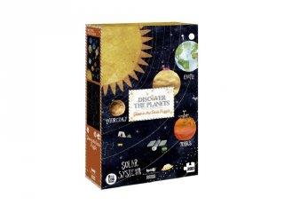 Fedezd fel a bolygókat! puzzle, 200 db-os foszforeszkáló kirakó (6-14 év)
