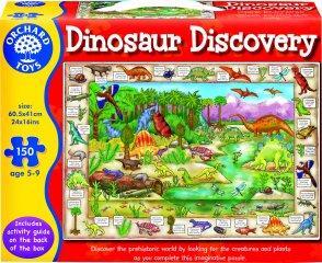Fedezd fel a dinoszauruszokat! (Orchard, 150 db-os puzzle, 5-9 év)
