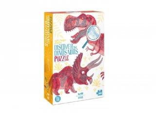 Fedezd fel a dinoszauruszokat! puzzle, 200 db-os interaktív kirakó (6-14 év)