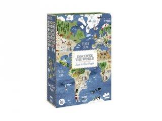 Fedezd fel a földet! puzzle, 200 db-os kereső kirakó (6-14 év)