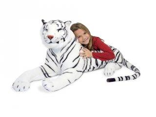 Fehér tigris, óriás plüss (MD, 3979)