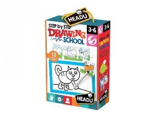 Fejlesztő puzzle, rajztanulás lépésről lépésre (HED, 3-6 év)