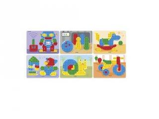 Feladatlapok 15 mm-es pötyi játékhoz, Miniland kreatív játék (31834, 3-6 év)