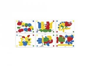 Feladatlapok 20 mm-es pötyi játékhoz, Miniland kreatív játék (31803, 3-6 év)