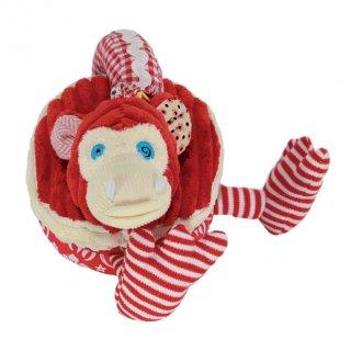 Felfedező karika, Bogos, a majom (Deg, 36112, plüss bébijáték, 0-2 év)