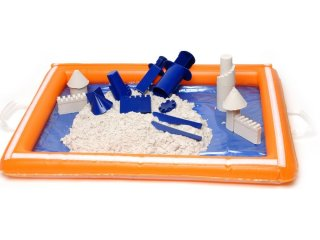 Felfújható homokozó tálca (beltéri homok kiegészítő, 3-6 év)