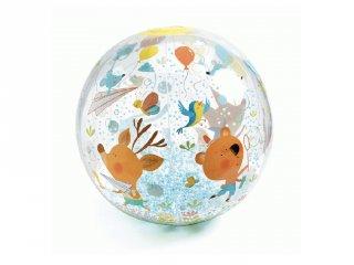 Felfújható labda 35 cm-es Bubbles ball, Djeco mozgásfejlesztő játék -175, strandlabda)