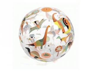 Felfújható labda 35 cm-es Dino Ball fluoreszkáló, Djeco mozgásfejlesztő játék - 174, strandlabda