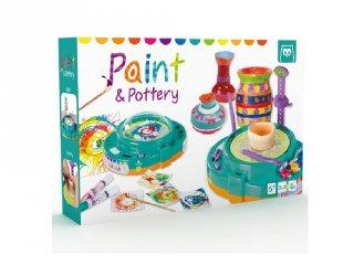 Festék és kerámia műhely 2 in 1, kreatív készlet (5-10 év)