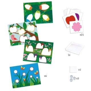 Festés üveggolyókkal, Djeco kreatív szett - 9685 (3-6 év)