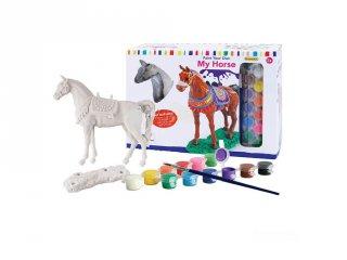 Festhető ló gipszből, kreatív játék (6-12 év)