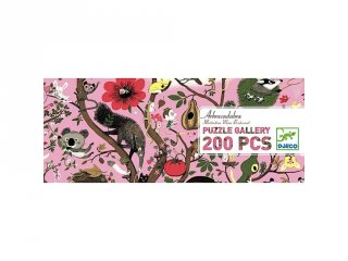 Festmény puzzle, Állatok a fán (Djeco, 7602, 200 db-os kirakó, 6-14 év)