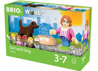 Figura és kutya készlet (Brio, fa szerepjáték, 3-7 év)
