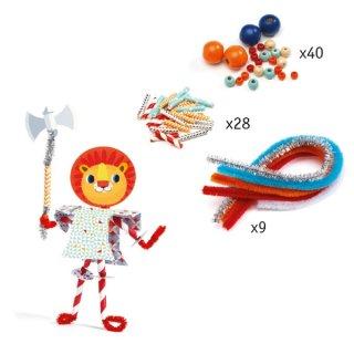 Figura készítés Lovagjaim, Djeco kreatív készlet - 8977 (3-6 év)