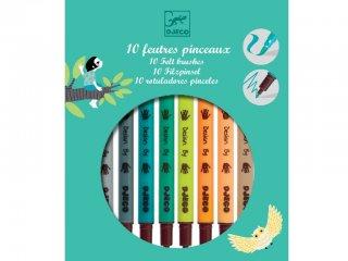 Filctollecset föld színekben (Djeco, 8801, 10 db-os kreatív készlet, 5-12 év)