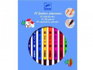 Filctollecset klasszikus színekben (Djeco, 8800, 10 db-os kreatív készlet, 5-12 év)