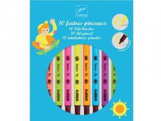 Filctollecset neon színekben (Djeco, 8799, 10 db-os kreatív készlet, 5-12 év)