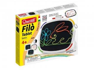 Filó Tablet tépőzáras rajzoló játék (0526, Quercetti, zsinóros képkészítő kreatív játék, 4-10 év)