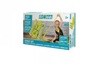 Fitnesz szett - ugrókötél és elasztikus szalag, mozgásfejlesztő játék (5-12 év)