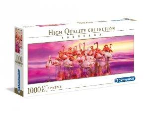 Flamingó tánc panoráma puzzle, 1000 db-os kirakó (CLEM, 9-99 év)