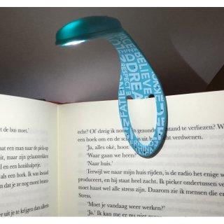 Flexilight hajlítható olvasólámpa és könyvjelző, Jégkék