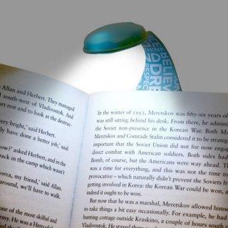 Flexilight hajlítható olvasólámpa és könyvjelző, Zöld könyvkukac
