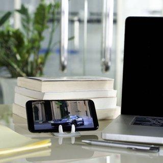 Flexistand hajlítható mobiltartó, Ezüst pöttyös