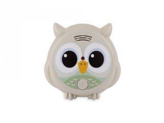 Flow Amsterdam Füstérzékelő Mister OWL szürke bagoly, gyerekszoba kiegészítő (ZA)