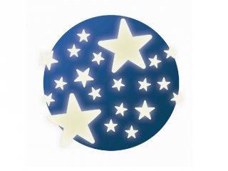 Fluoreszkáló falmatrica, Csillagok (Djeco, 4592, gyerekszoba dekoráció)