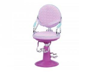 Fodrász szalon szék lila, 46 cm-es babáknak (OR)