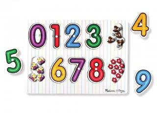 Fogantyús formaberakó, számok (Melissa Doug, fajáték, 1-3 év)