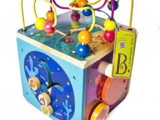 Foglalkoztató kocka, Tengervilág (B.Toys, foglalkoztató fajáték, 1-5 év)