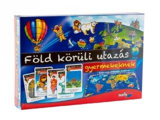 Föld körüli utazás gyermekeknek (Noris, családi-, és oktató társasjáték, 6-12 év)