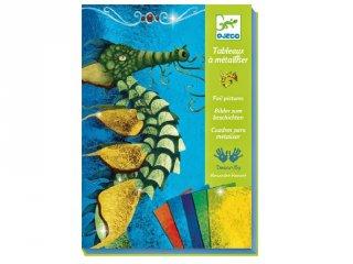 Fóliakép készítő, Aranyozd be a sárkányt (Djeco, 9511, kreatív játék, 7-13 év)